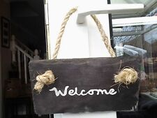 Welcome Hand Painted Decorative Hanging Signs