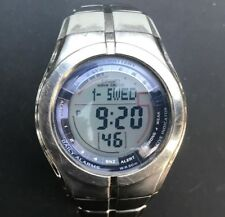 Rare Casio Wave Ceptor WV-100 (2513) Solar Battery Stainless Steel