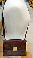 DeMellier London Burgundy Mock Croc Copenhagen Shoulder Bag Designer Bag $480