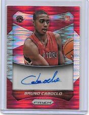 2014-15 Bruno Caboclo Panini Prizm #88 RED PULSAR AUTO RC #D 42/149 (T387)