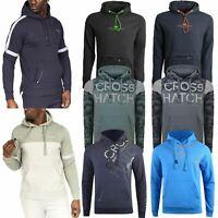 Crosshatch Men Pullover Hoodie Hooded Casual Sweatshirt Camo Overhead Jumper Top