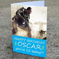 CALL OF DUTY Personalised Birthday Card | Boys Son Brother Nephew Grandson COD