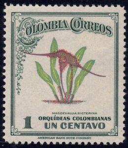 1947 Colombia SC# 546 - Colombian Orchid Masdevalia Nycterina  - M-H