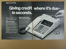 1981 GTE Micro-Fone Credit Card Reader Terminal Telephone vintage print Ad
