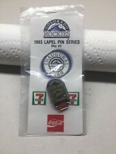 Souvenir Lapel Hat Pin #1 Colorado Rockies Baseball 1993 New York Mets