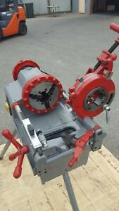 """1/2""""-2"""" 240V BSPT Pipe Threading Threader Machine With Stand (PT4)"""