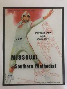 "1956 SMU Mustangs vs. Missouri Tigers 11""x14"" Football Program Poster 10/6/56"