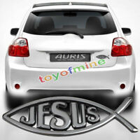 New 3D Christian Jesus Fish Symbol Logo Car Emblem Badge Sticker Decal