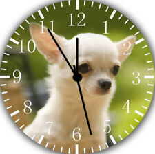 Cute Chihuahua Frameless Borderless Wall Clock Nice For Gifts or Decor E410