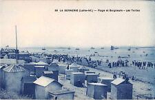 CPA 44 - Postal- La BERNERIE - Playa y Bañistas - Los Tiendas de campaña