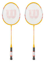 Wilson PRIZE 5000 Badminton Racket Yellow 2 Racquets String with Full Cover