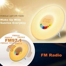 Sunrise Colorful LED Light and Digital Alarm Time Clock Wake Up FM Music Radio
