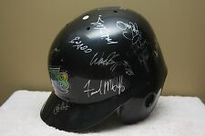 TAMPA RAYS Game 1990s TEAM SIGNED Baseball Batting helmet WADE BOGGS McGRIFF