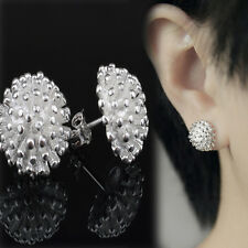 Plated Stud Earrings Xmas Gift New Charm Women Girl Creative Firework 925 Silver
