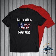 All Lives Matter US Flag Civil Rights Protest Mens T-Shirt