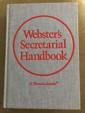 Webster's Secretarial Handbook, Vintage, 1976 Hardcover