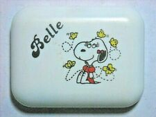 VINTAGE 1958 BELLE PRESSED POWDER COMPACT PEANUTS SNOOPY USA  MAKE OFFER