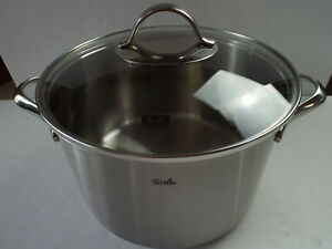 Fissler Original Collection Cooking Pot & Lid, Stainless Steel 18/10, Ø 24 cm