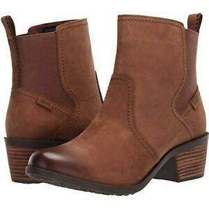 Teva Anaya Chelsea Bison Boots Waterproof Brown Size 8 New