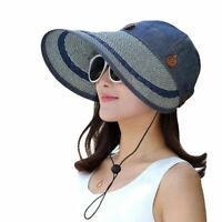 Visor Large Wide Brim Women Cap Hat Summer Uv Protection Beach Outdoor Floppy