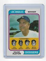 1974 Topps Baseball Walter Alston #144 Los Angeles Dodgers Lasorda Gilliam