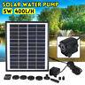 5W Solaire Panneau Pompe à eau 400L/H Pr Jardin piscine Fontaine Étang Bassin