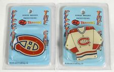 2-Pack of Montreal Canadiens Flashing LED Light-Up Logo & Jersey Magnet Pins NIP