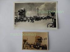 SINGAPORE CITY DAY DRAGON/ STREET SCENE  + PHOTO C.1951 OR 1952 RPPC F808/11