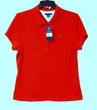 New Womens Tommy Hilfiger Cotton Polo t shirt Large red