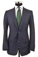 Belvest Mid Blue Woven WOOL SILK Nailhead Weave 2pc Suit Jacket Pants 42 R