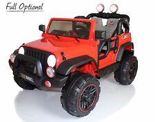 Auto Elettrica Bambini Telecomando Jeep Radiocomandata 2 Posti 12v 4 X 4 Rosso