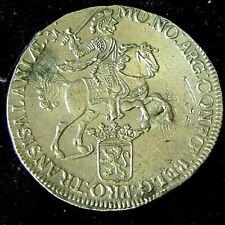More details for uncirculated condition 1742 silver rider ducaton  - hollandia shipwreck 1743