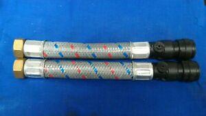 Salamander 22mm Shower Pump Hose Flexible Isolator Valve x 2