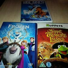 Walt Disney's Frozen Doll, & 3 DVDS Classic, 52 Ice age 4 & The Muppet  (4 items