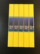 5 X NEW Sony BCT-194SXLA BETACAM SX Metal Cassette Tapes - Rare Made in Japan