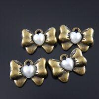 50373 Vintage Silver Alloy Bullet Crafts Pendant Charms Decoration Jewelry 40pcs