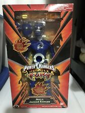 "Power Rangers Jungle Fury _  12"" _  Mega Blue Jaguar Ranger Action Figure / Doll"