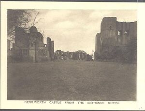England - Kenilworth Castle from the Entrance Green