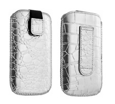 Housse Etui Ultra Slim (Croco Argent) ~ Apple iPhone 3G / 3GS / 4 / 4S
