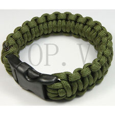 Paracord 550 Camping Para cord Bracelets Buckle Survival Hiking Hunting #2 SX