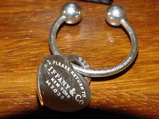 TIFFANY & CO ELSA PERETTI SILVER KEYRING & RETURN TO TIFFANY HEART PENDANT