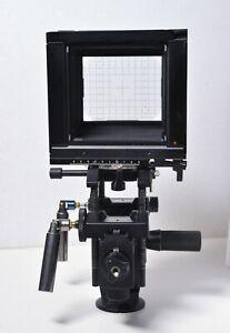 Sinar F2 4x5 Large Format View Camera Body Upgraded w Handy Cardans Tilt Shift