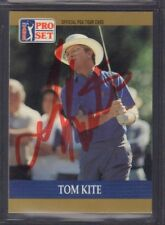 Tom Kite 1990 PGA Tour Pro Set #6 Autographed Signed jhpsg