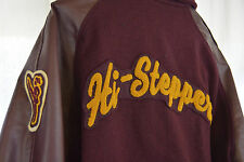2001 TEXAS High School Letter Jacket VARSITY DANCE TEAM USA Medium Maroon Gold