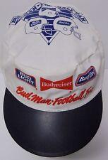 Vtg 1990s BUD MAN NFL FOOTBALL Budweiser Light FOOTBALL Advertising Painters Cap