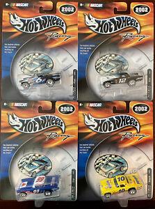 VERY RARE! Hot Wheels Racing NASCAR 2002 Full Set (4) '57 T-Bird Pfizer Nesquik