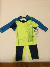 NWT Reebok Boys' 3-piece Activewear Set- Yellow/ Blue Size:4T Sport Suit Outfit