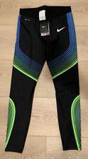 NWT Nike Men's Dri-FIT Run Speed Power Tights, MEDIUM, Black, Blue 717750 014