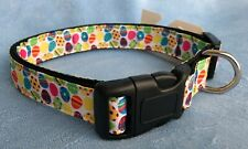 Mirage Pet Products Confetti Easter Eggs Nylon Dog Collar, Medium or Large