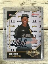 WILL BENSON 2015 BOWMAN UNDER ARMOUR AUTO AUTOGRAPH RC PLAYER ISSUED INDIANS